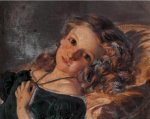 Sophie Gengembre Anderson (1823-1903)  A girl reclining  Oil on canvas, unknown  Private collection